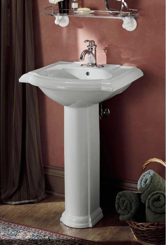 Kohler K 2286 1 0 White Devonshire 24 Quot Pedestal Lavatory