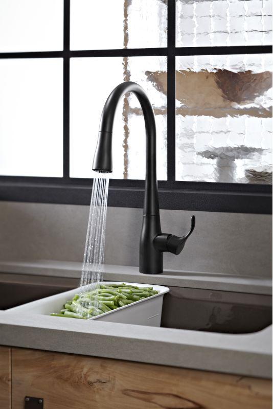 Faucet Com K 596 Bl In Matte Black By Kohler