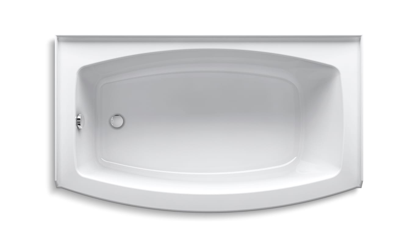 Deep soaking tub 60 x 36 designs ergonomic 60 x 36 oval for Cast iron tubs vs acrylic