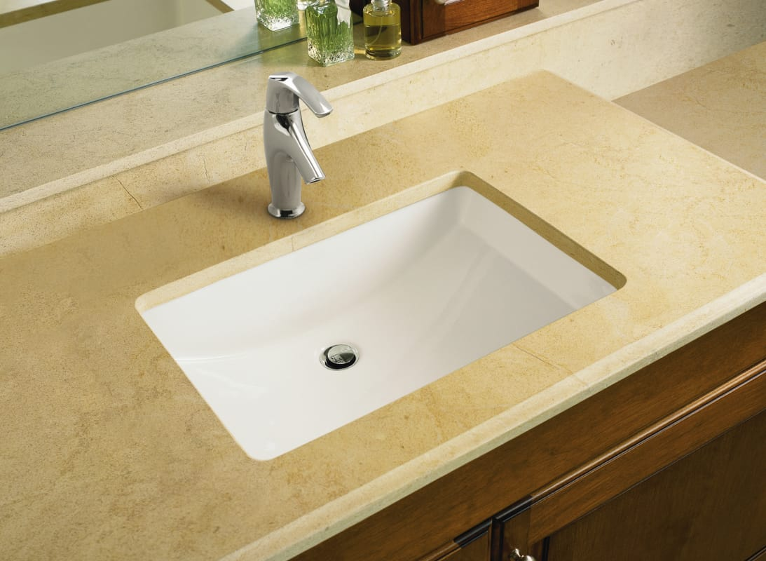 kohler undermount bathroom sink faucet k 2215 0 in white by kohler 19038