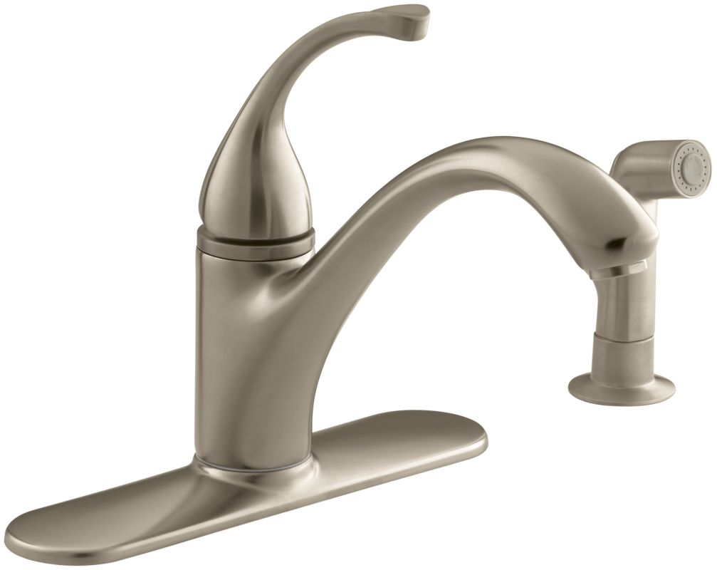 kohler k 10412 bv brushed bronze single handle kitchen fontaine ff isa3k bb isabella pull down kitchen faucet