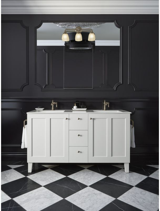 K 10572 bv in vibrant brushed bronze by kohler for Vibrant brushed bronze bathroom lighting