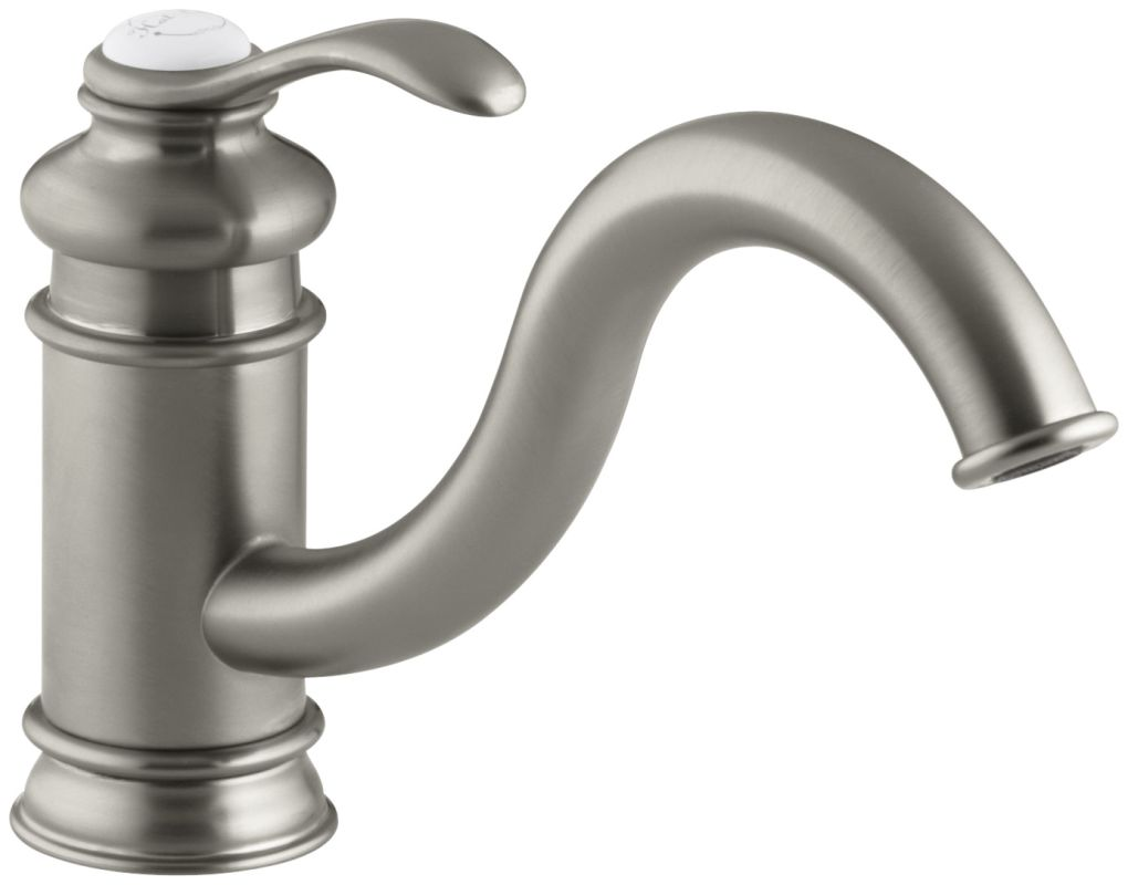 Kohler K 12175 Bn Brushed Nickel Single Handle Kitchen Faucet From The Fairfax Series