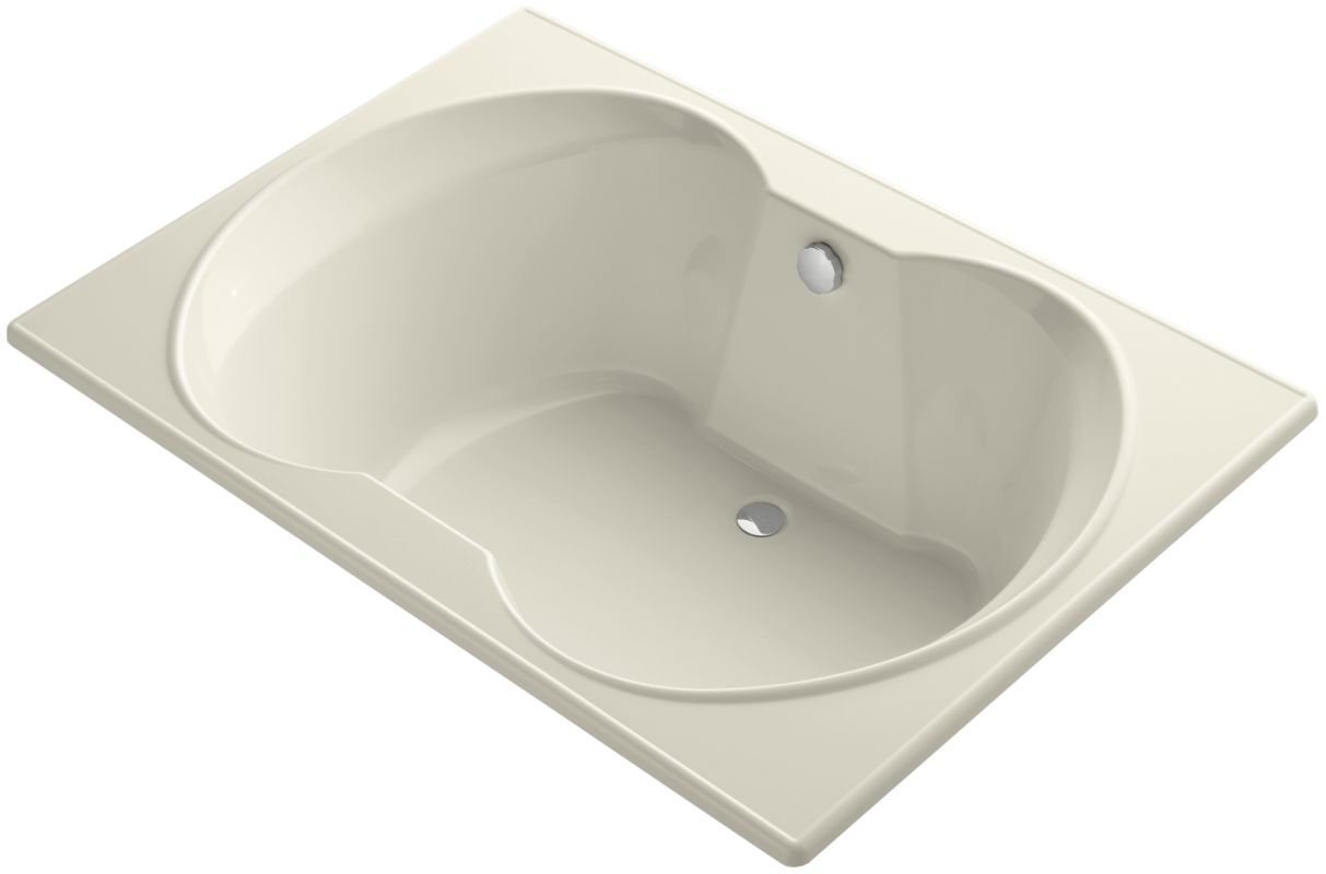 kohler k 1227 47 almond overture collection 60 drop in soaking bath