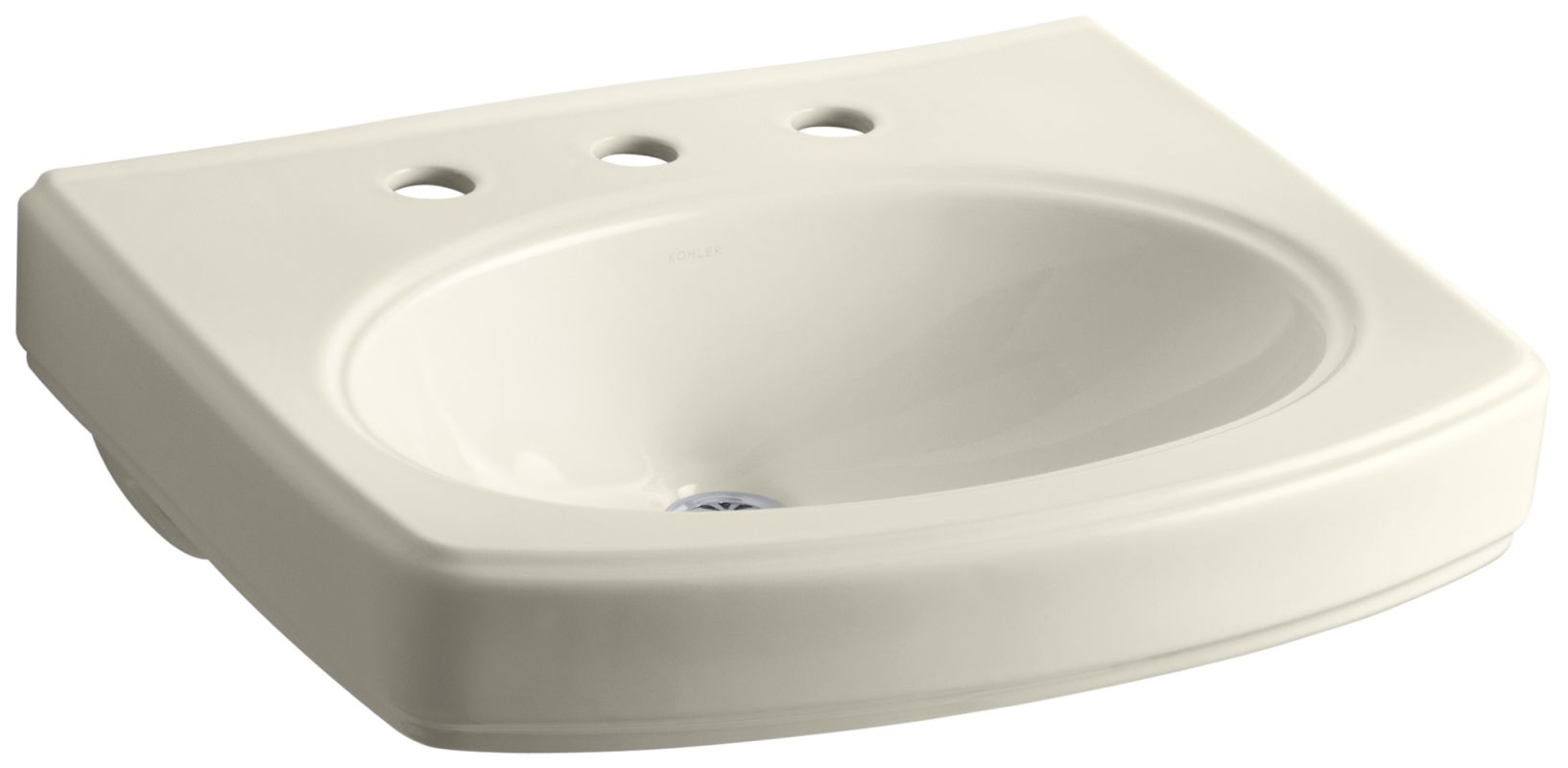... Bathroom Sink with 3 Holes Drilled and Overflow - FaucetDirect.com