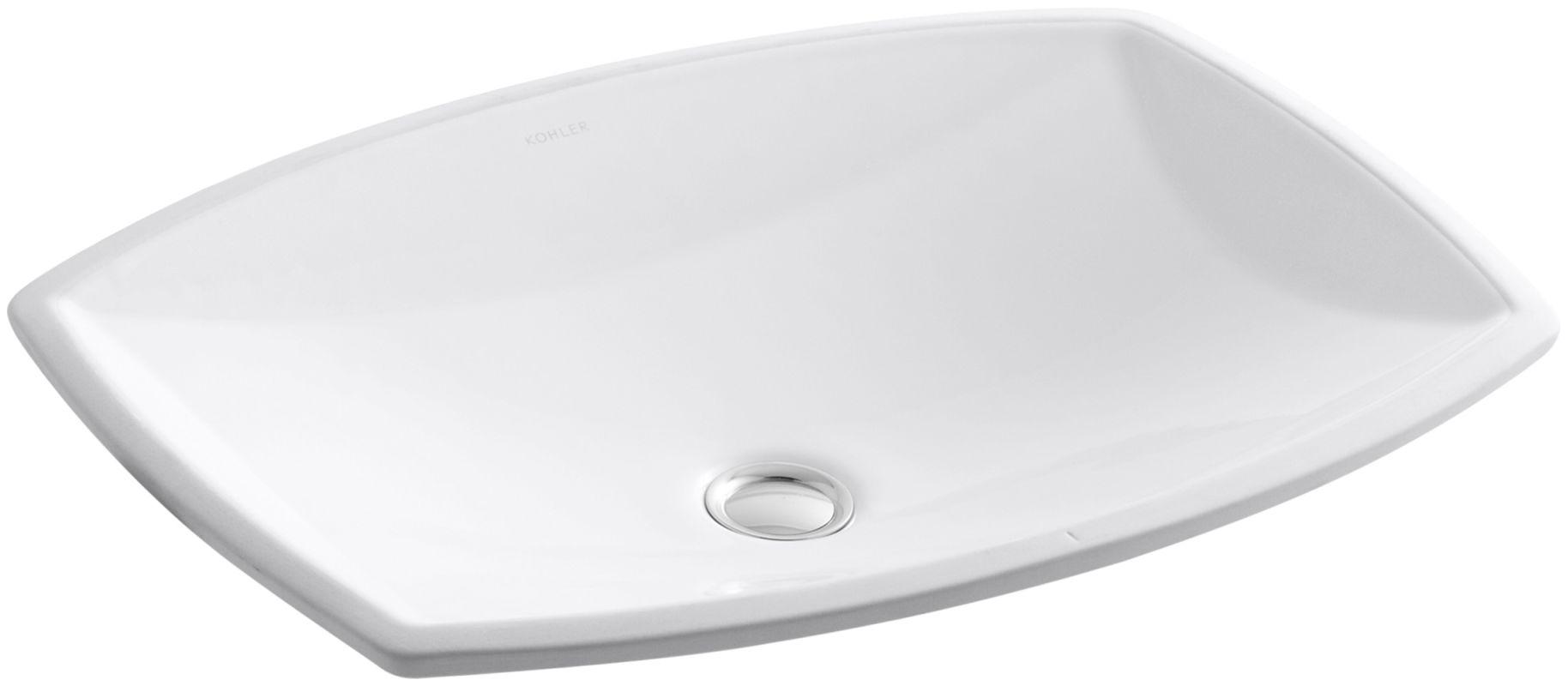 Kohler K 2382 0 White Kelston 19 Quot Undermount Bathroom Sink