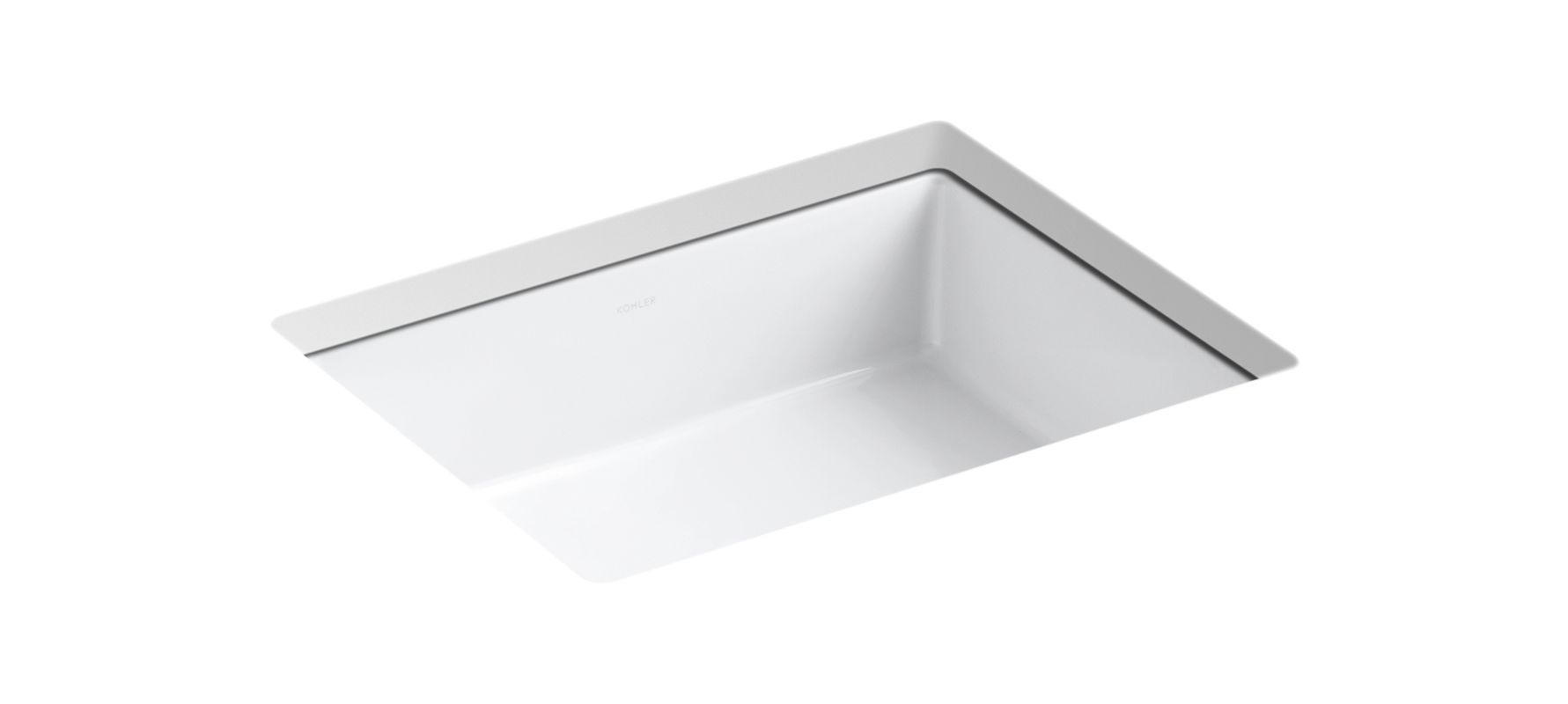 Verticylтў Rectangular Undermount Bathroom Sink K-2882-0 faucet   k-2882-0 in whitekohler