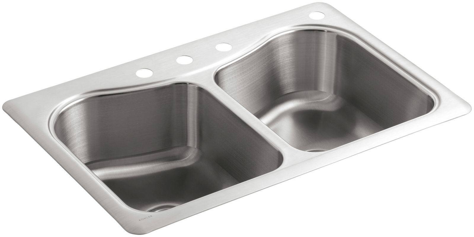 Kohler K 3369 4 Na Stainless Steel Staccato 33 Quot Double