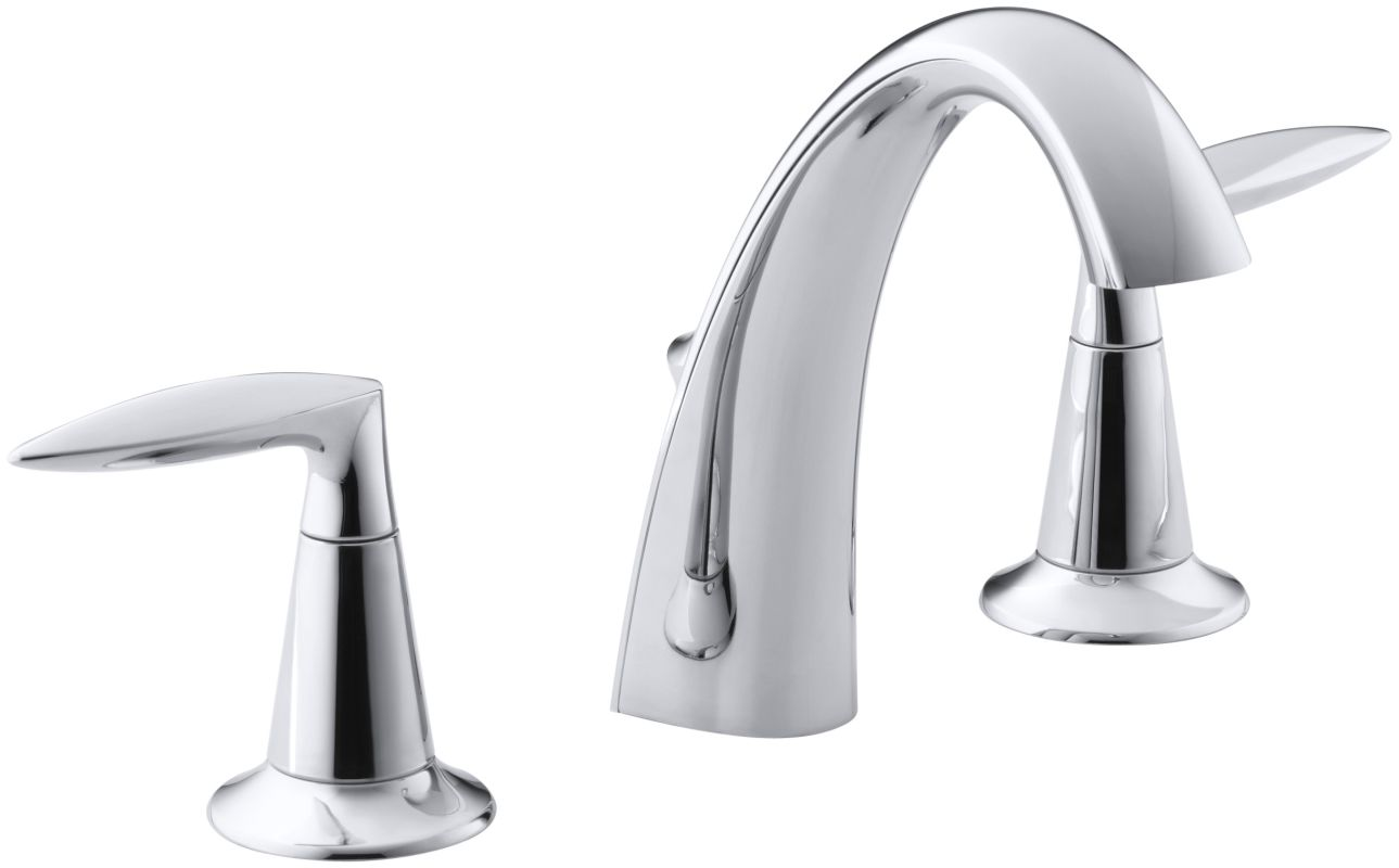 kohler k 45102 4 cp polished chrome alteo widespread bathroom faucet