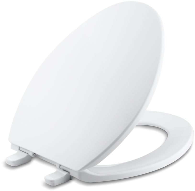 Kohler K 4774 0 White Brevia Q2 Elongated Closed Front Toilet Seat With Quick Release