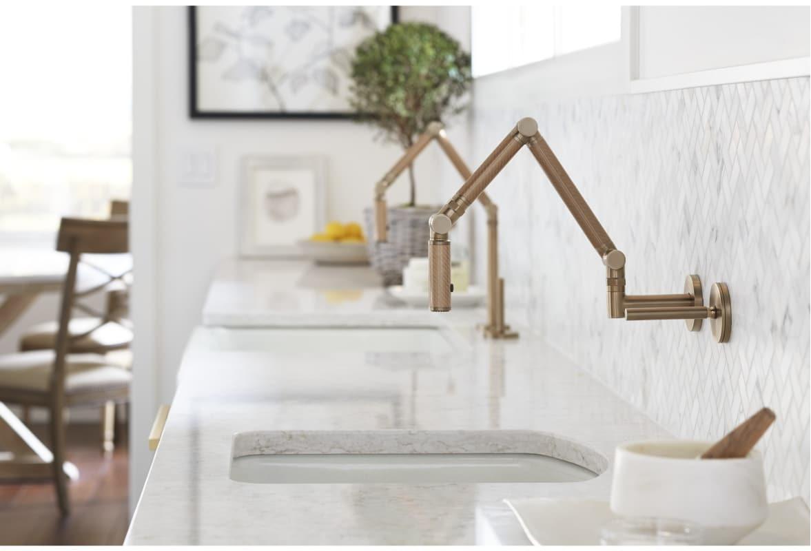 Faucet.com | K-25-C25-CP in Polished Chrome by Kohler | (title} | kohler wall mount kitchen faucet