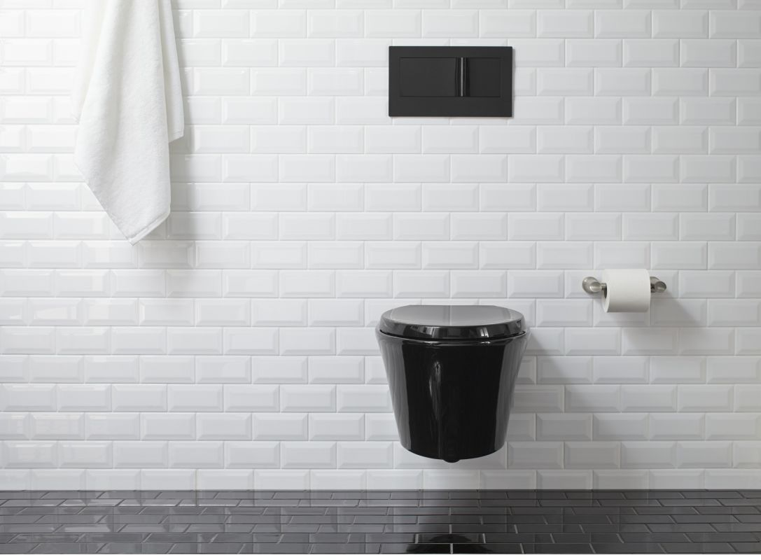 Faucetcom K In White By Kohler - White toilet with black seat