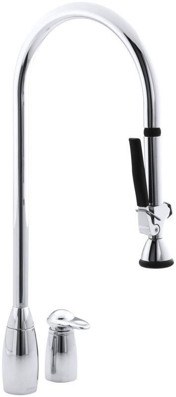 Kohler K  Cp Clairette Kitchen Sink Faucet Polished Chrome