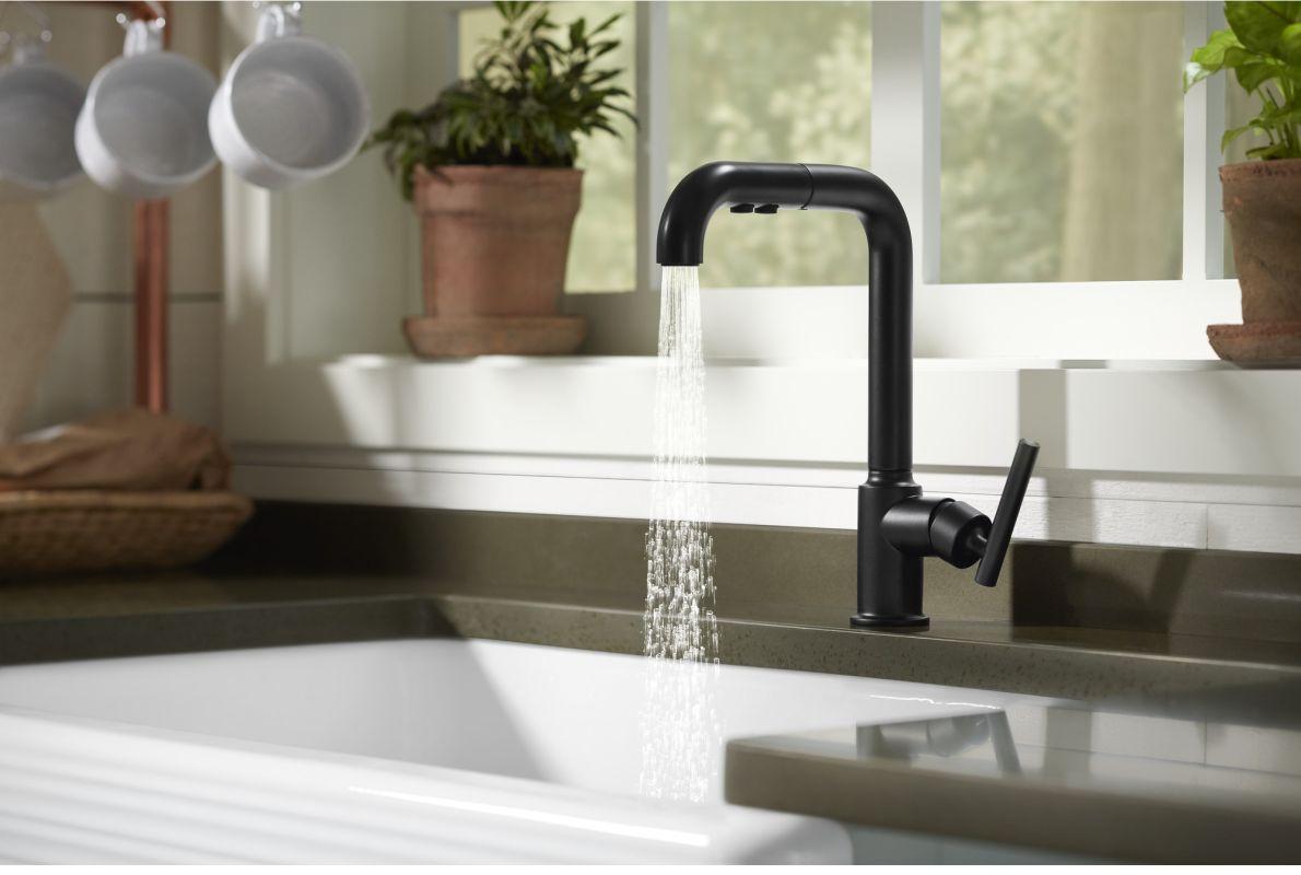 faucet | k-7505-bl in matte blackkohler