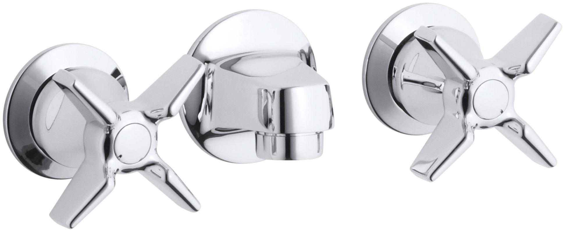 kohler k 8046 3a cp polished chrome triton wall mount bathroom faucet
