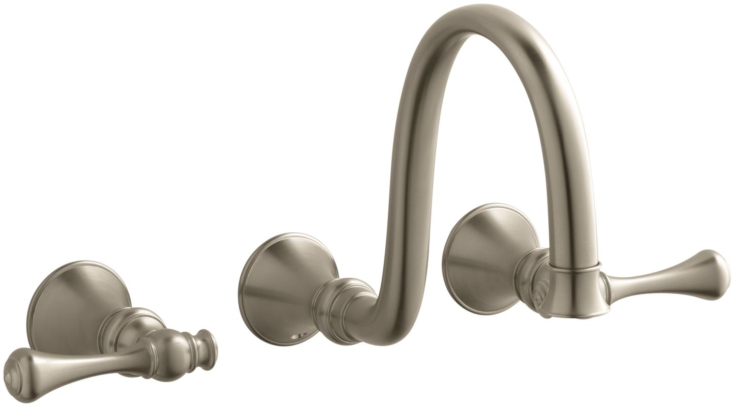 bronze revival wall mount bathroom faucet without drain assembly