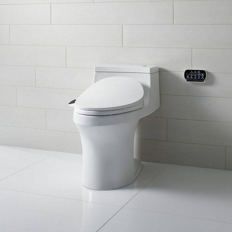 Kohler K-4000/K4108 white San Souci 1.28 GPF Elongated Comfort Height ...