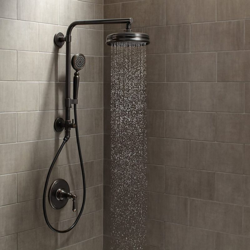Faucet Com Artifacts Hydrorail Custom Shower System 2bz In Oil Rubbed Bronze By Kohler
