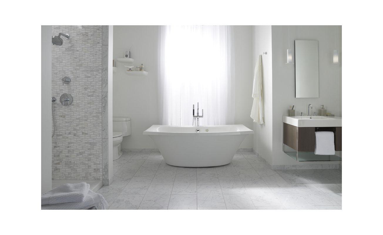 7 Faucet Finishes For Fabulous Bathrooms: K-14037-G-0 In White By Kohler