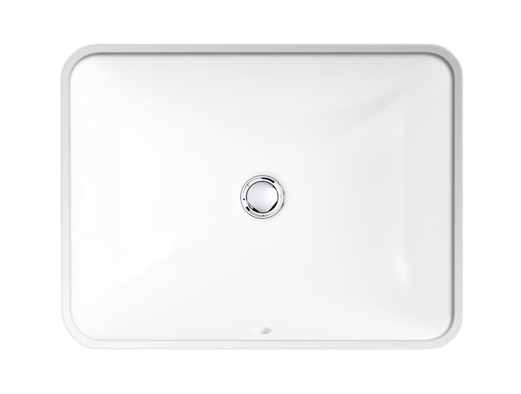 Shop kohler caxton biscuit undermount oval bathroom sink at lowes com - Alternate View