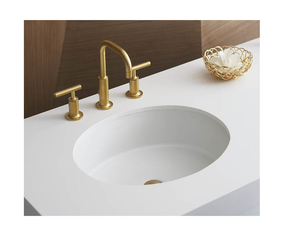 kohler kbv brushed bronze purist widespread bathroom,