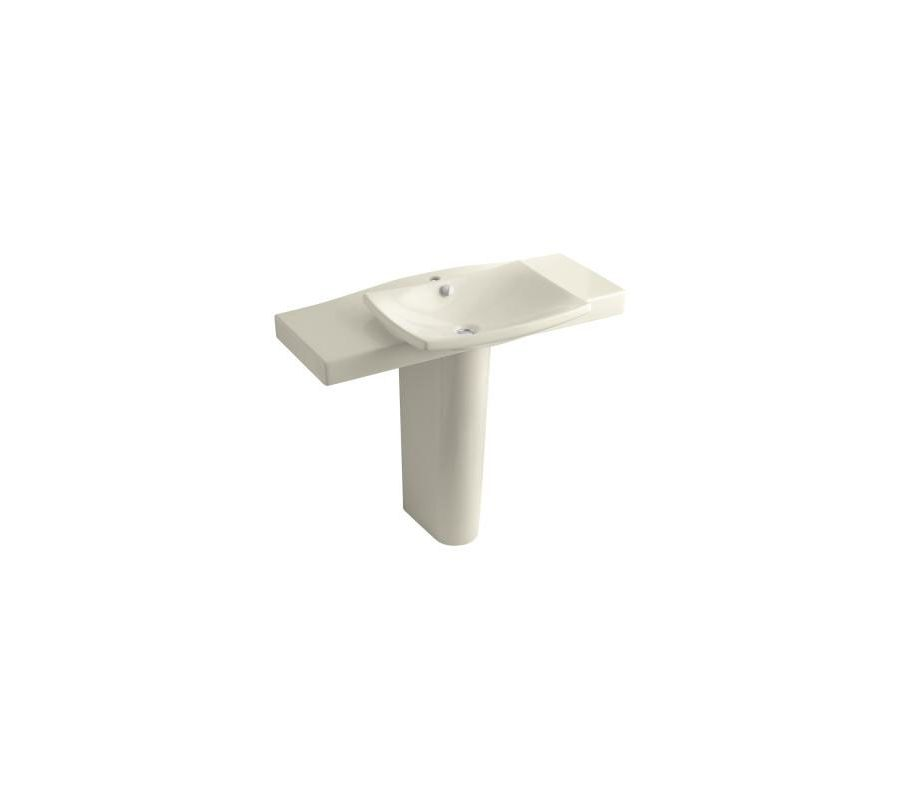 kohler k 18691 1 47 almond escale pedestal lavatory with 19034