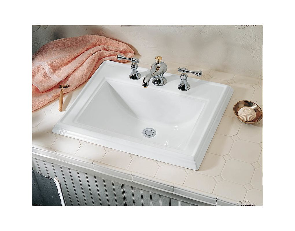 K 2241 8 0 in white by kohler - How to replace a drop in bathroom sink ...
