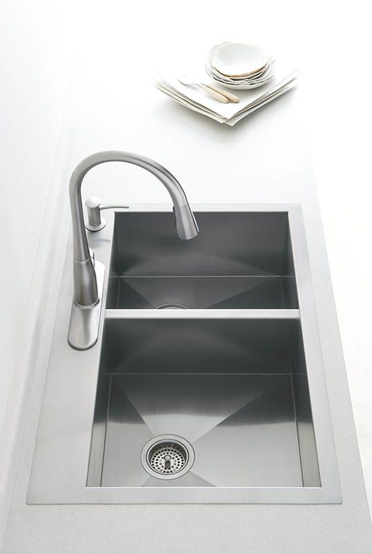 Kohler Stainless Steel Kitchen Sinks faucet | k-3823-4-na in stainless steelkohler