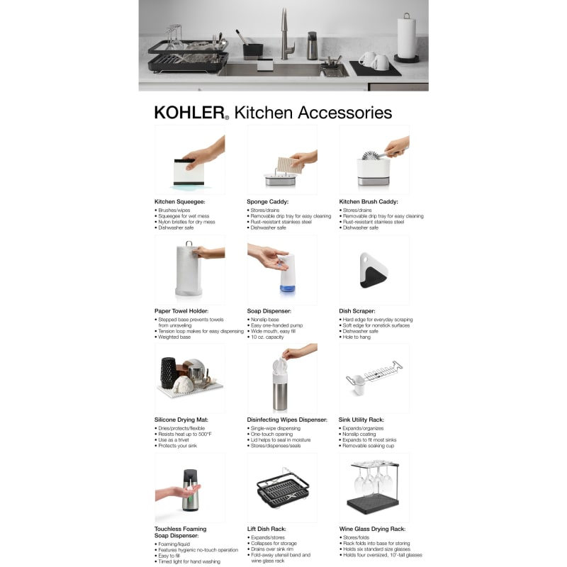 alternate view - Kohler Sple Dienstprogramm Rack