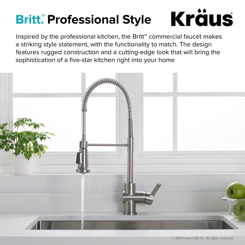 Kraus Kpf Pull Down Kitchen Faucet Stainless Black