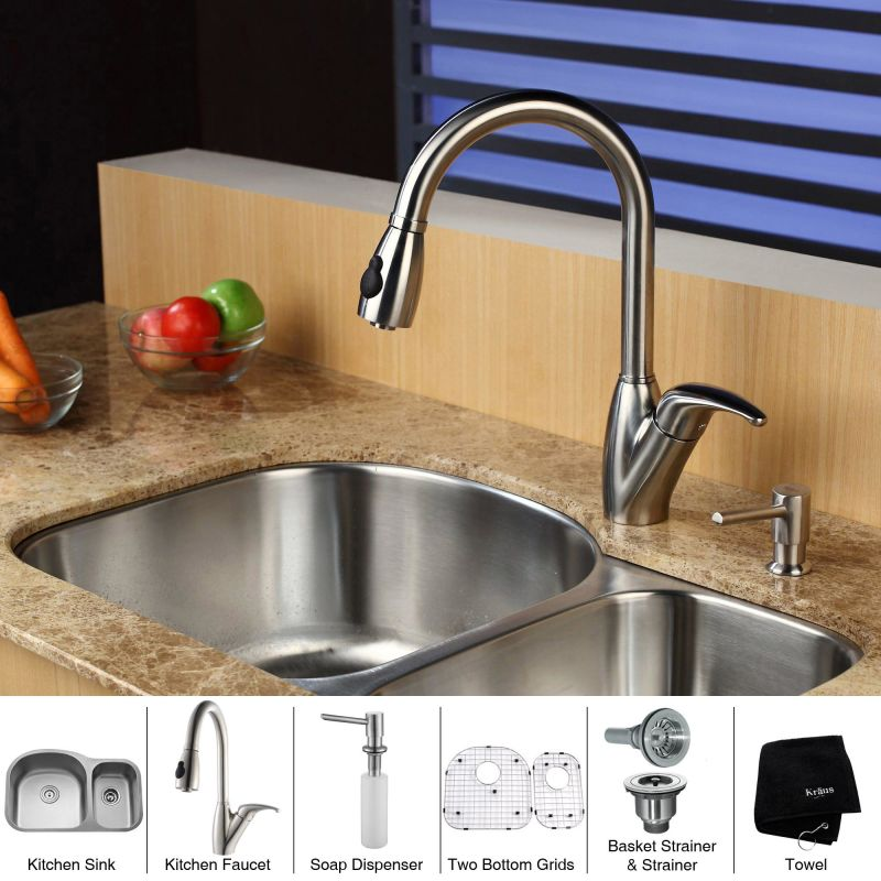 Faucet Com Kbu23 Kpf2120 Sd20 In Stainless Steel By Kraus