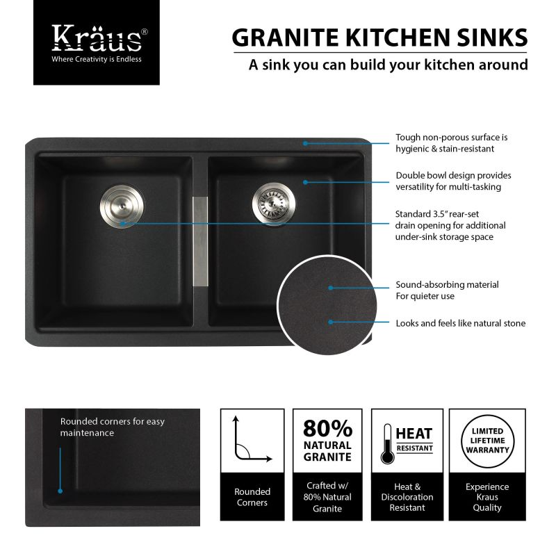 Kraus Brand Review : ... com KGU-434B-KPF-2230ORB in Black Onyx / Oil Rubbed Bronze by Kraus
