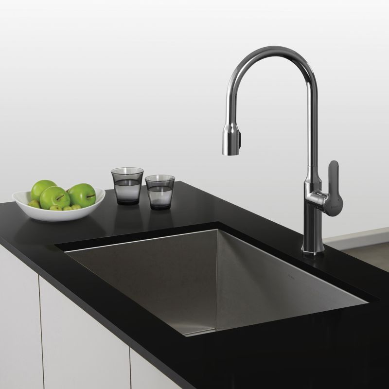 Kraus Kitchen Faucets | Faucet Com Khu29 In Stainless Steel By Kraus