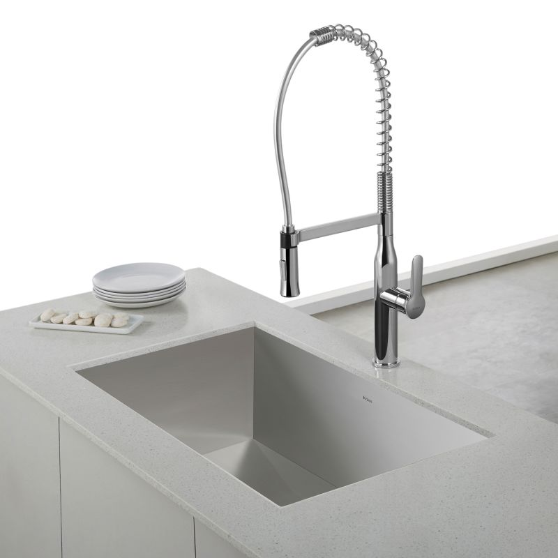 Kraus Kitchen Faucets | Faucet Com Kpf 1650ss In Stainless Steel By Kraus