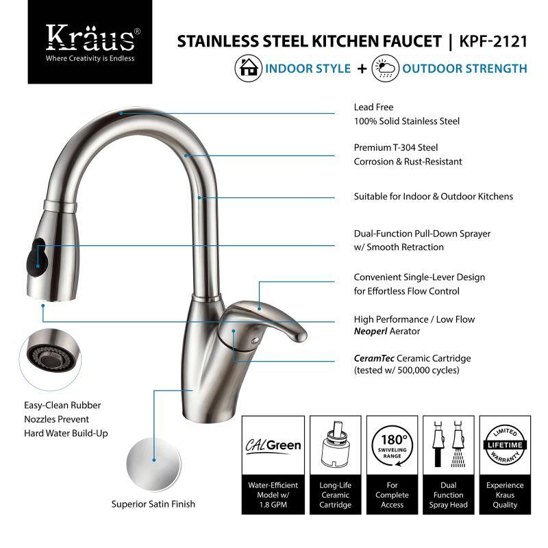 Kraus Kitchen Faucet  Lever