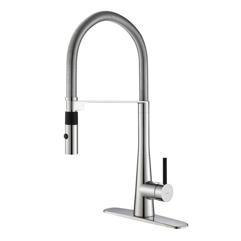 Kpf 2730ch in chrome by kraus for Industrial style kitchen faucet