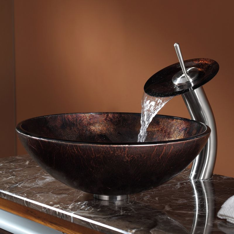 in use view - Glass Vessel Sinks