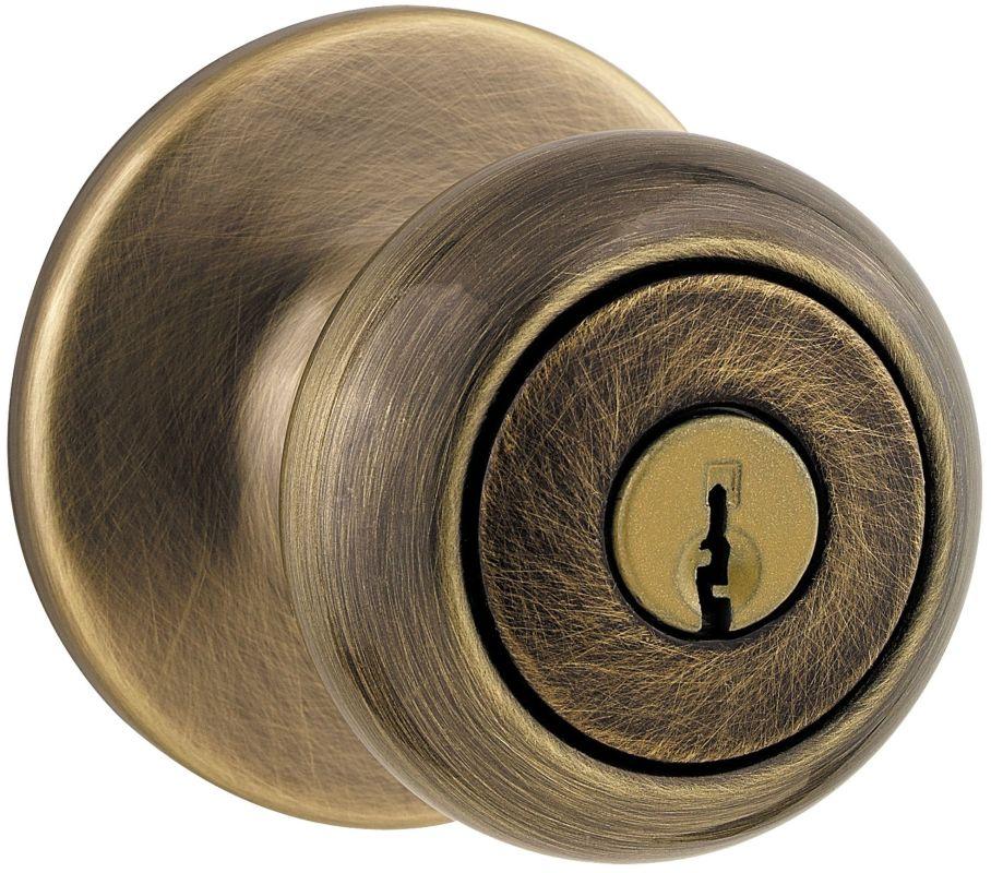 kwikset 400cv 5 antique brass single cylinder keyed entry cove knobset. Black Bedroom Furniture Sets. Home Design Ideas