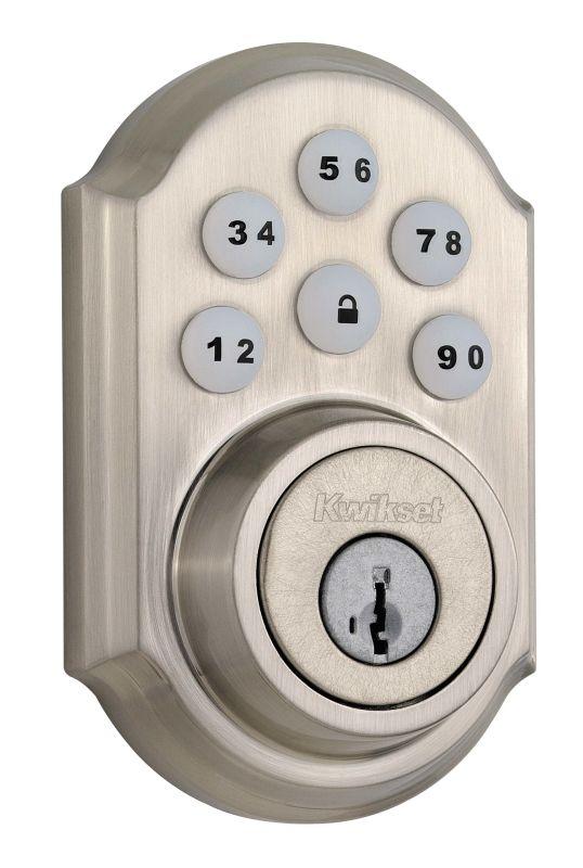 Kwikset 909 15s Satin Nickel Smartcode Electronic Deadbolt