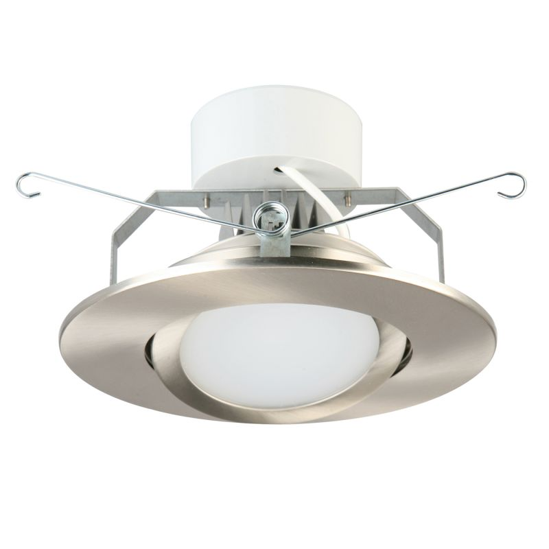 Recessed Directional Lighting Fixtures : Lithonia lighting g bn led m brush nickel gimbal