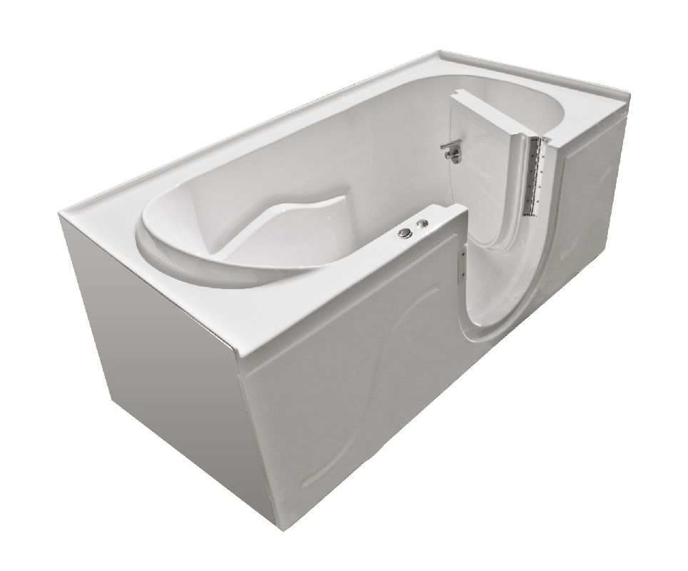 MediTub 3060SIRWH White 60 X 30 Walk In Whirlpool Tub With Right