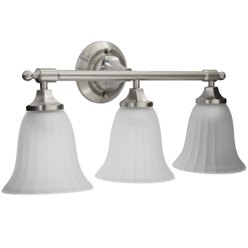Bathroom Light Fixture Parts: MIRBRKW3LGTBN In Brushed Nickel By Mirabelle