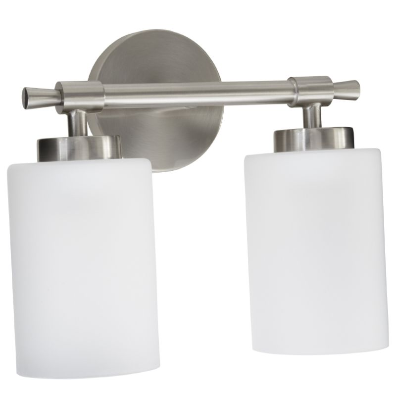 Bathroom Light Fixture Parts: MIRMLED2LGTBN In Brushed Nickel By Mirabelle