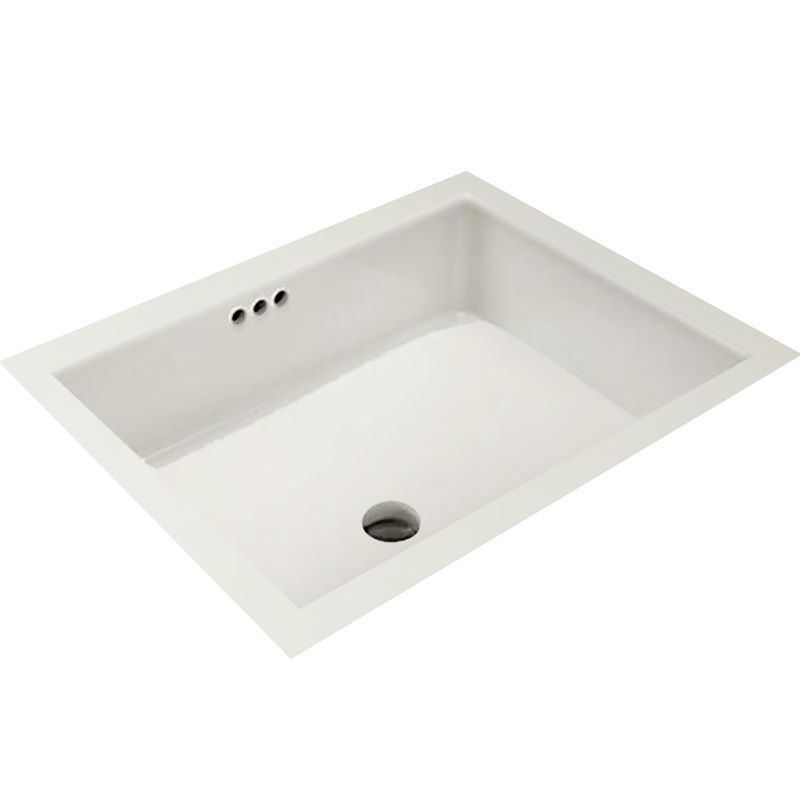 Mirabelle Miru1713wh White 17 1 8 Porcelain Undermount Bathroom Sink With Overflow