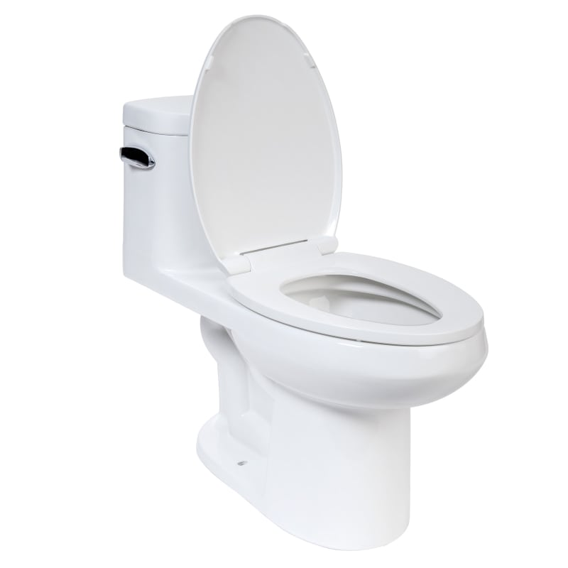 2 In One Toilet Seat.  Alternate View Faucet com MNO120C in White by Miseno