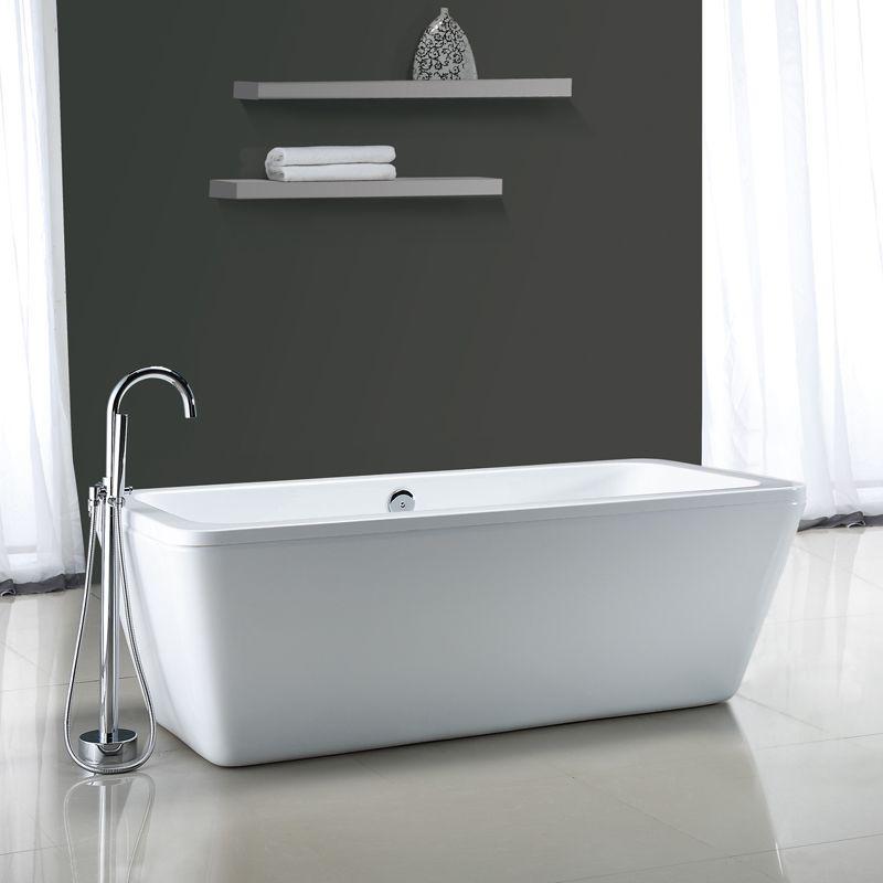 "Bathtub Installation Methods: Miseno MT6932FSR White 68-9/10"" Soaking Bathtub For Free"