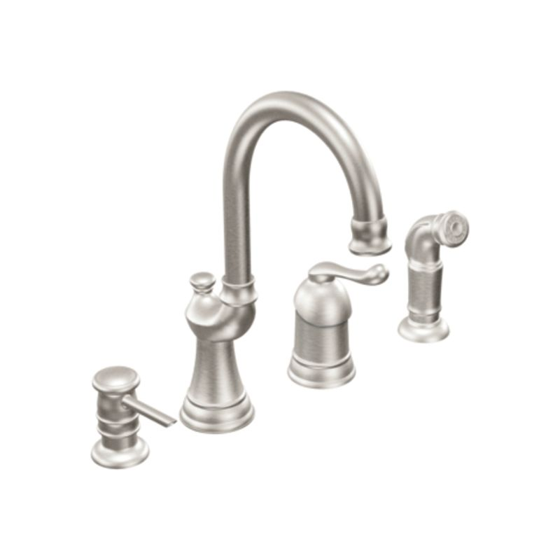 discontinued moen kitchen faucets faucet ca87002csl in classic stainless by moen 17334