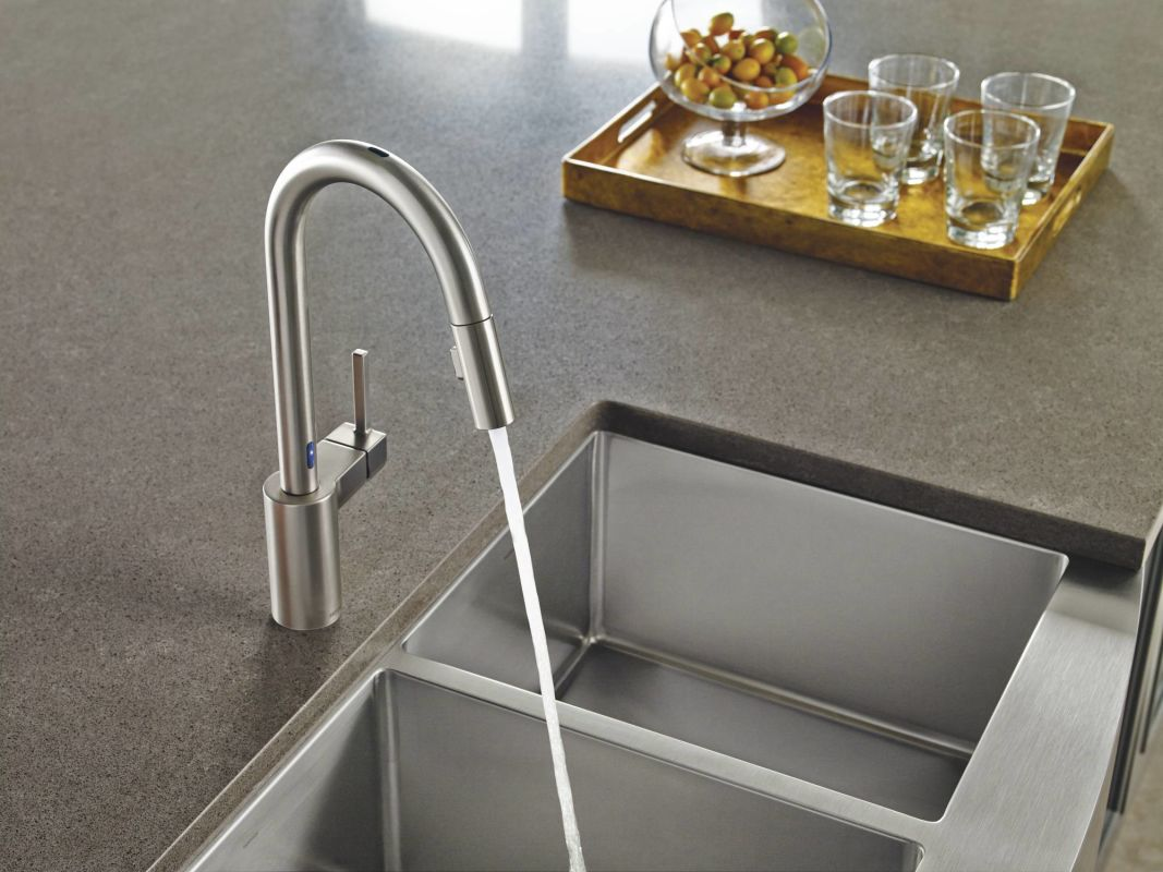 Moen Touchless Kitchen Faucet Faucetcom 7565ec In Chrome By Moen