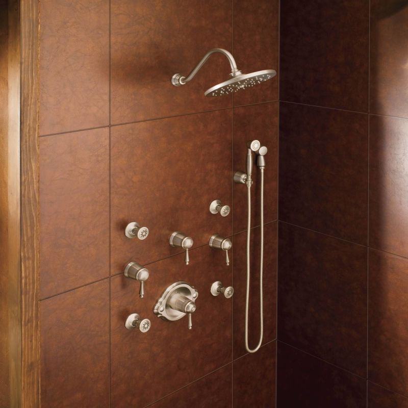 installed shower system in nickel