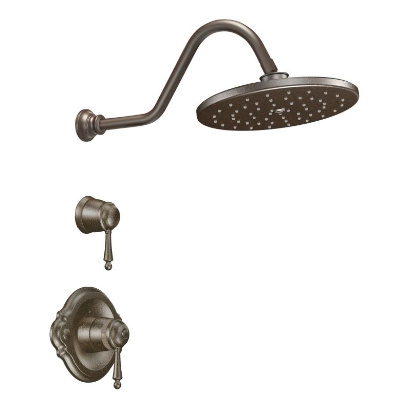moen double handle shower faucet.  Shower Trim with Volume Control in Oil Rubbed Bronze Faucet com 1070BN Brushed Nickel by Moen